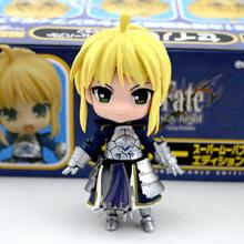 Anime Nendoroid Q Fate/stay Night Fate/Zero Saber Excalibur Emiya Shirou 25CM PVC Action Figure Toy Collection Model Gift