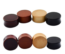 22mm hot fashion wood plug jewelry natural body piercing 4 different color each 2pcs
