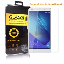 Sundatom Huawei Honor 7 honor7 закаленное стекло экран протектор 5.2 дюймов экран охранник взрывозащищенный