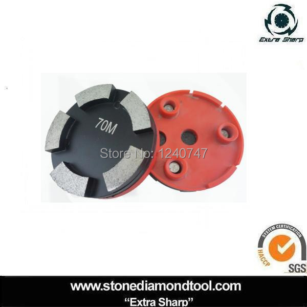 4 inch vecro backed Metal floor polishing disc for Klindex machine with 5 segments(China (Mainland))