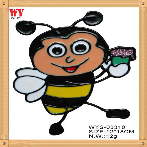 Free shipping removable decor home decorative wall stickers for kids rooms window cartoon room decor bees 10pcs/lot(China (Mainland))