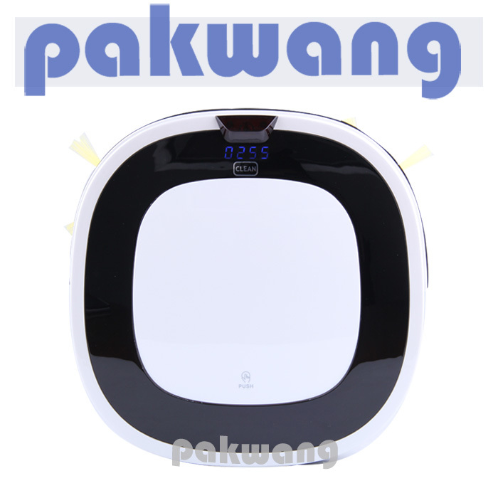 Household robot vacuum cleaner intelligent robot ultra-thin,low noise,long working time,broom(China (Mainland))