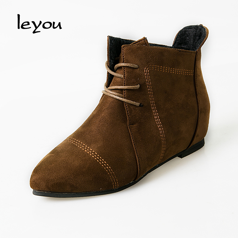 Lace up Suede Ankle Boot Promotion-Shop for Promotional Lace up ...