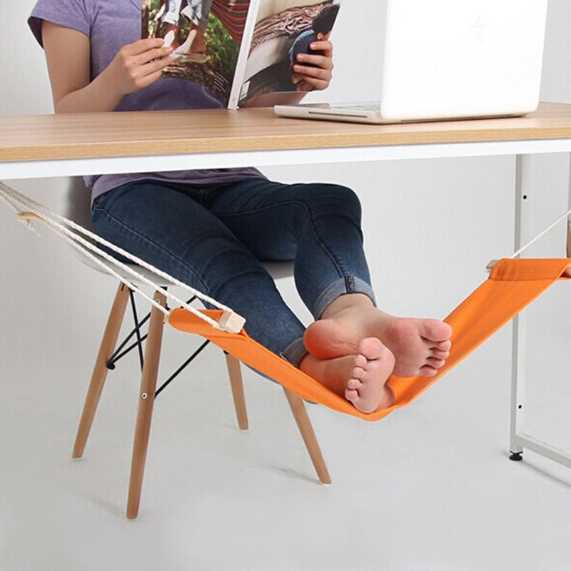 60*16cm Office Foot Rest Stand Desk Feet Hammock Easy to Disassemble Study Indoor Orange Free Shipping(China (Mainland))