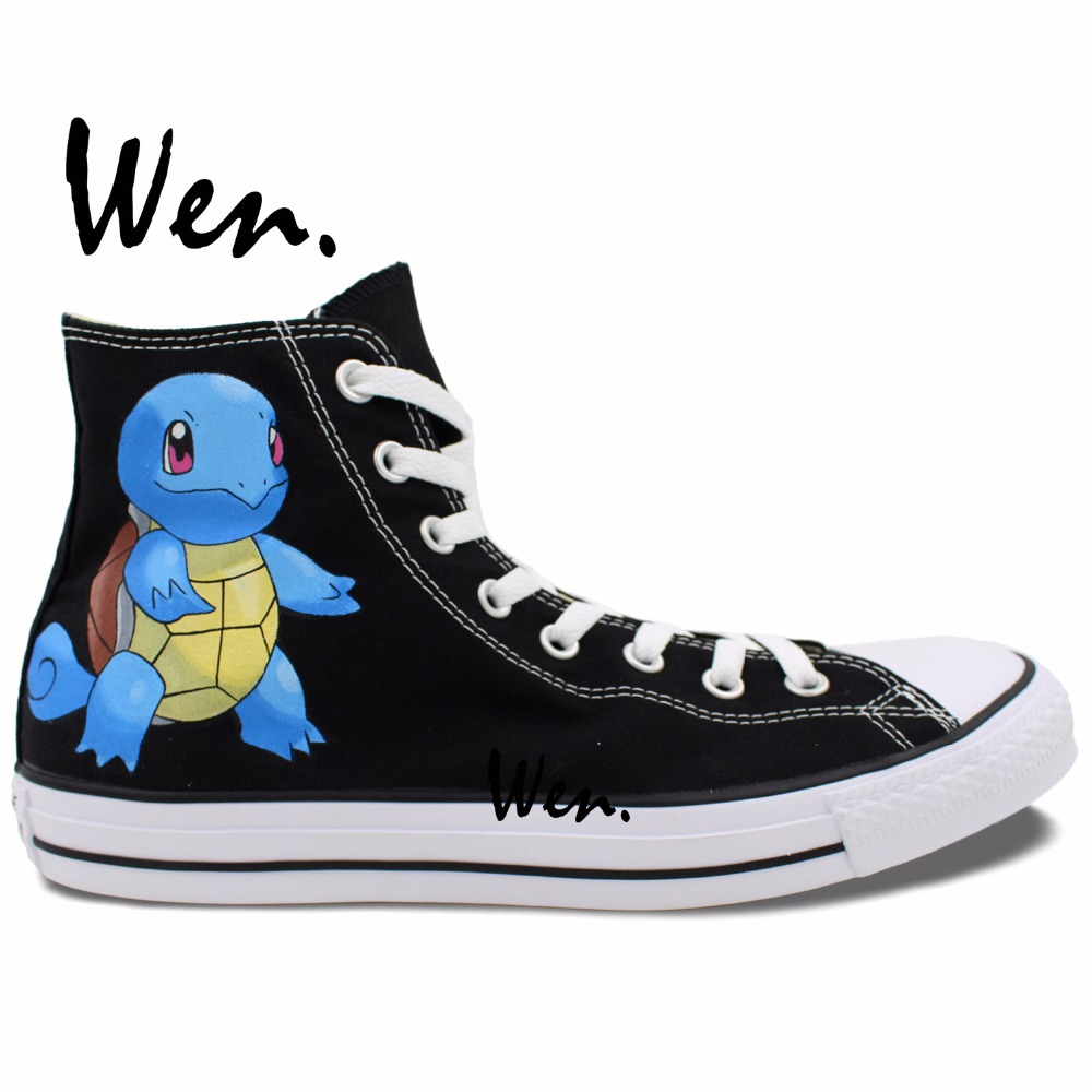Turtles High Top font b Shoes b font font b Pokemon b font Go Squirtle Hand