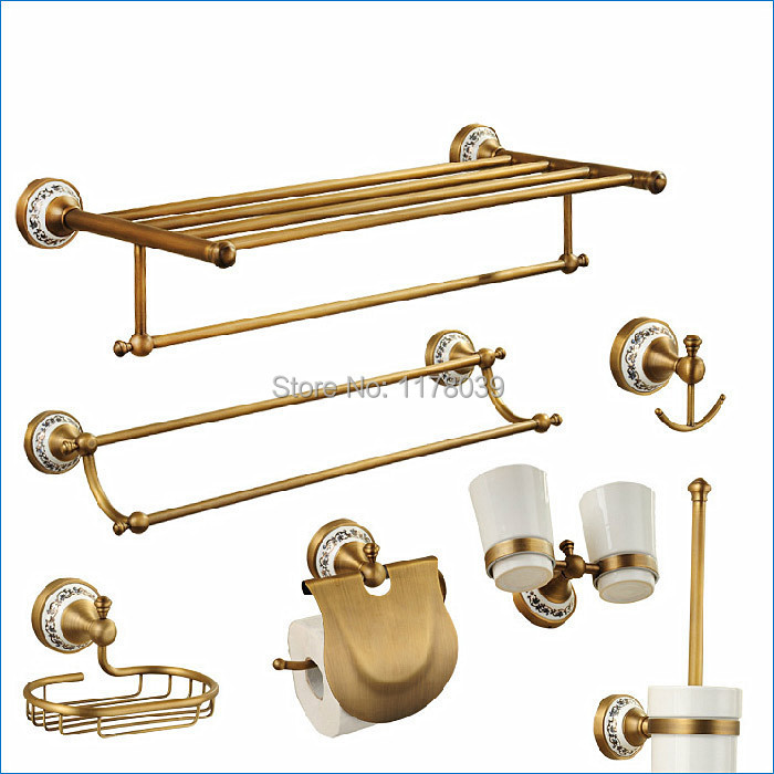Europe style oil rubbed bronze bathroom hardware,Luxury antique brass bathroom accessories,Free Shipping J15289(China (Mainland))