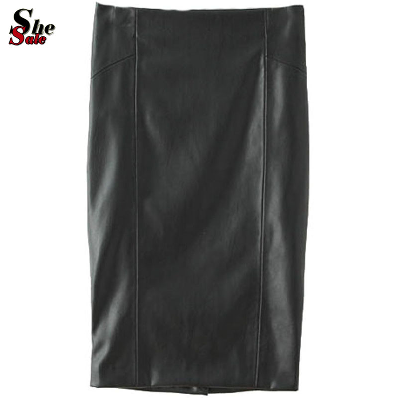 Гаджет  Fashion Clothes Woman European Style Most Popular Special Famous Clothing Autumn Casual Black Bodycon Split Leather Skirt None Одежда и аксессуары