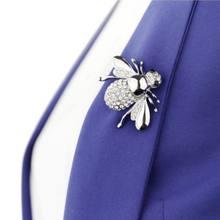 OPPOHERE Carino Animale Ape Spilla Piccolo Spille Decorazione Della Sciarpa del Collo Collare Spille Gioielli(China)