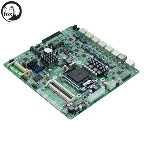 H67SL B75 LGA1155 Firewall motherboard mini itx Motherboard With 6 LAN<br><br>Aliexpress