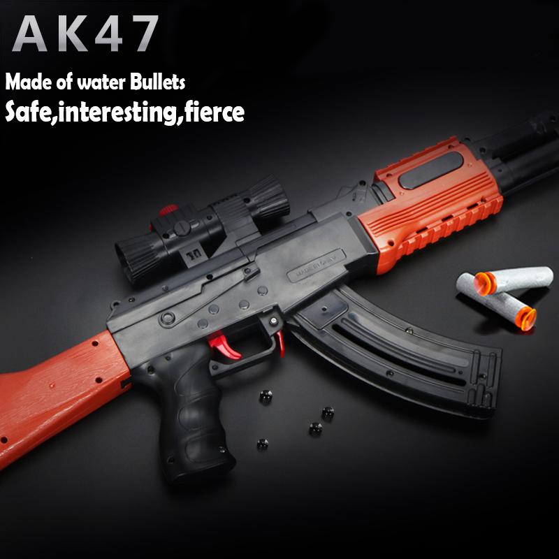 LEDOU Kids Toys Imitation Guns AK47 Shooting Toys Boy Gift Safety Special Bullet No Lethality Gun Gunfight Brinquedos(China (Mainland))