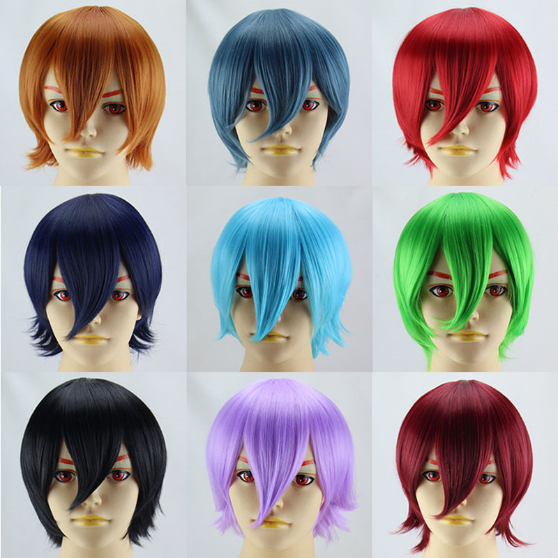 12 100g hot sale short man synthetic wig ,straight cosplay wig<br><br>Aliexpress