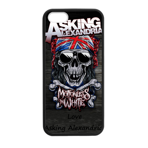 Asking Alexandria Union Jack Case for iPhone 5/5s Rugged Cell Phone Case(China (Mainland))