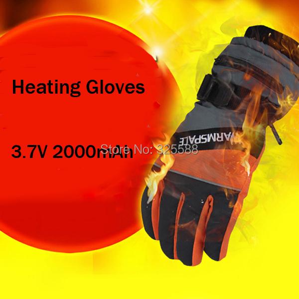 WARMSPACE Winter Warm Gift Non-slip Ski Electric USB Heating Gloves with 2000mah Li Battery Heat Gloves Sport Heated Gloves(China (Mainland))