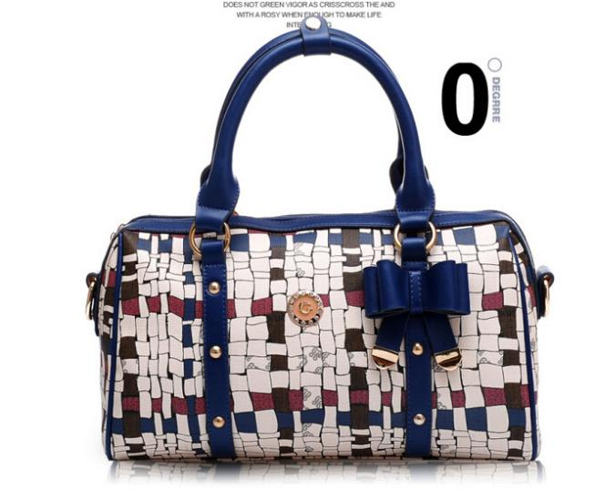 2014 new brand bamboo pattern geometric bag women handbag shoulder bag totes with bow <br><br>Aliexpress