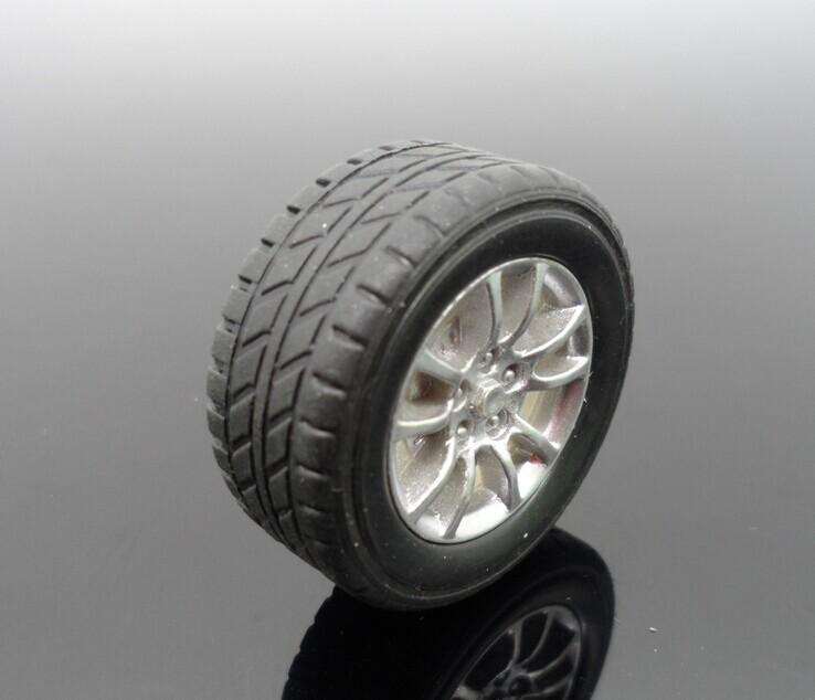30MM toy car small rubber wheels DIY model remote control