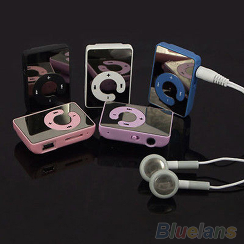 Mini Clip USB MP3 Music Media Player Support 1 8GB Micro SD TF Headphone Cable 4QCL