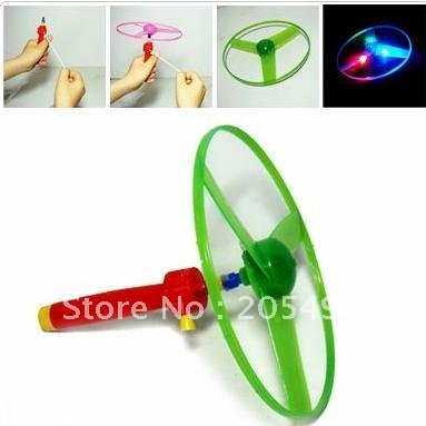 new products for 2012 bracing wire rc UFO , Led flashing dog flying disk Gun toy , Plastic frisbee , kids gifts, free shipping(China (Mainland))