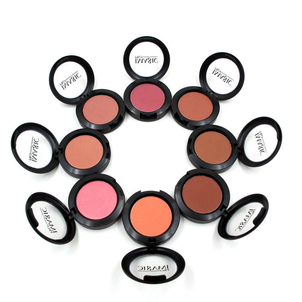 IMAGIC Professional Blusher Natural Face Pressed Makeup Palette Blusher Waterproof Nature Finish Beauty Brand 8 Color(China (Mainland))