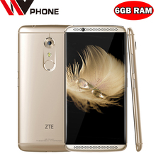 "WV Original ZTE Axon 7 4G LTE Mobile Phone Snapdragon 820 Android 6.0 5.5"" 2K 2560X1440 6GB RAM 128GB ROM 20.0MP Force Touch NFC(China (Mainland))"
