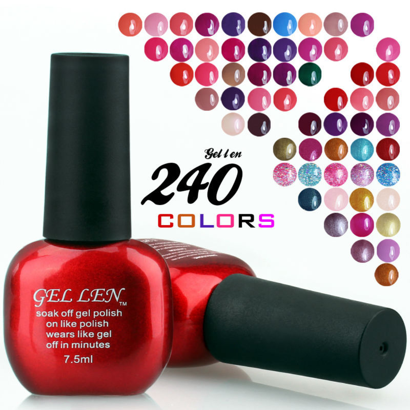 Gel Len Soak gel polish cured led uv lamp special offer 240 colors choosse fashion new - Beauty Nail Store store