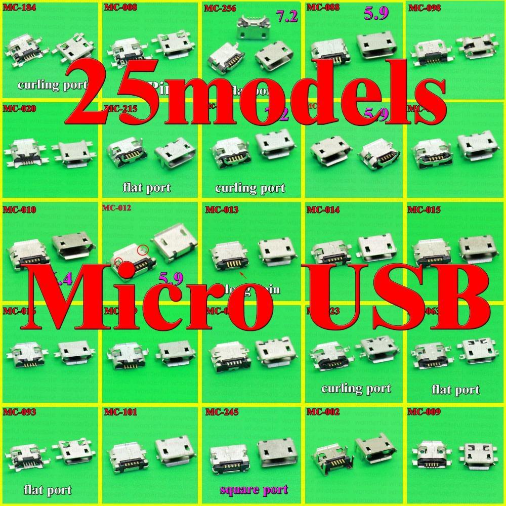 Гаджет  25models Micro usb Connector 5p 5pins mini usb Jack for Samsung htc lenovo zte...mobile phone tablet pc mid None Телефоны и Телекоммуникации