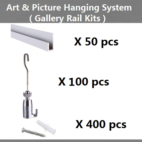 Free shipping,Art hanging hardware,Picture hanging systems,wall mounted rail,gallery hanging rail hook, wire,sling, cord,J hooks(China (Mainland))