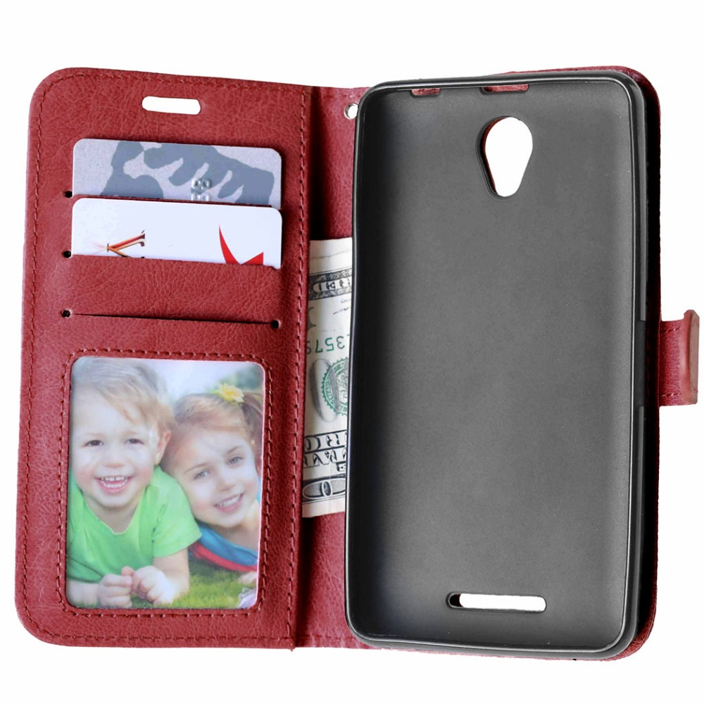 PU Leather Cover Case For Lenovo A 5000 Skin Phone Case With Card Holder Flip Back Cover For Lenovo A5000 Case Drop shipping(China (Mainland))