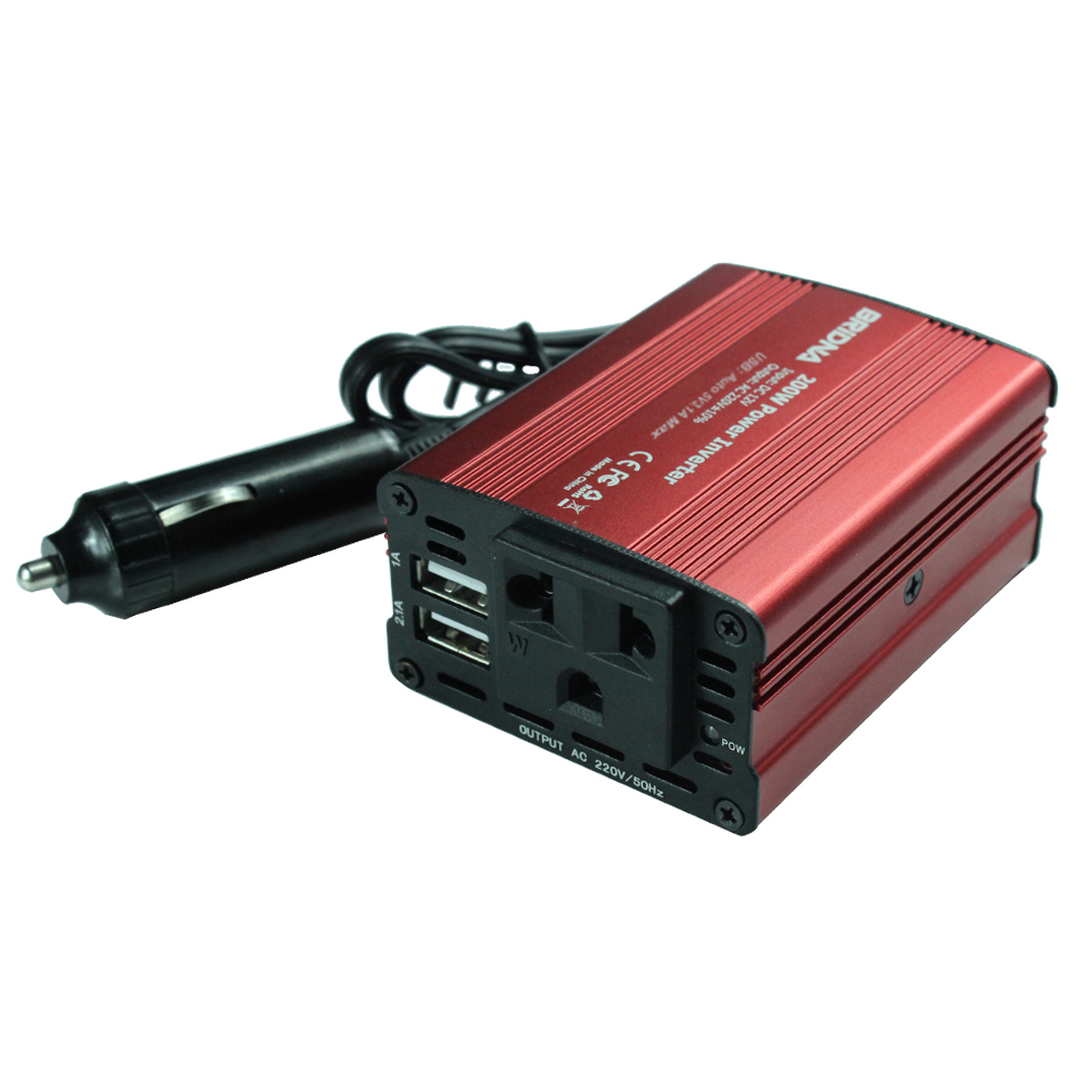 2016 New 1pcs DC12V To AC 220V/110v 200W/300W/500W/800W/1000W Car Auto Power Inverter Converter Adaptor With Two USB For Car(China (Mainland))