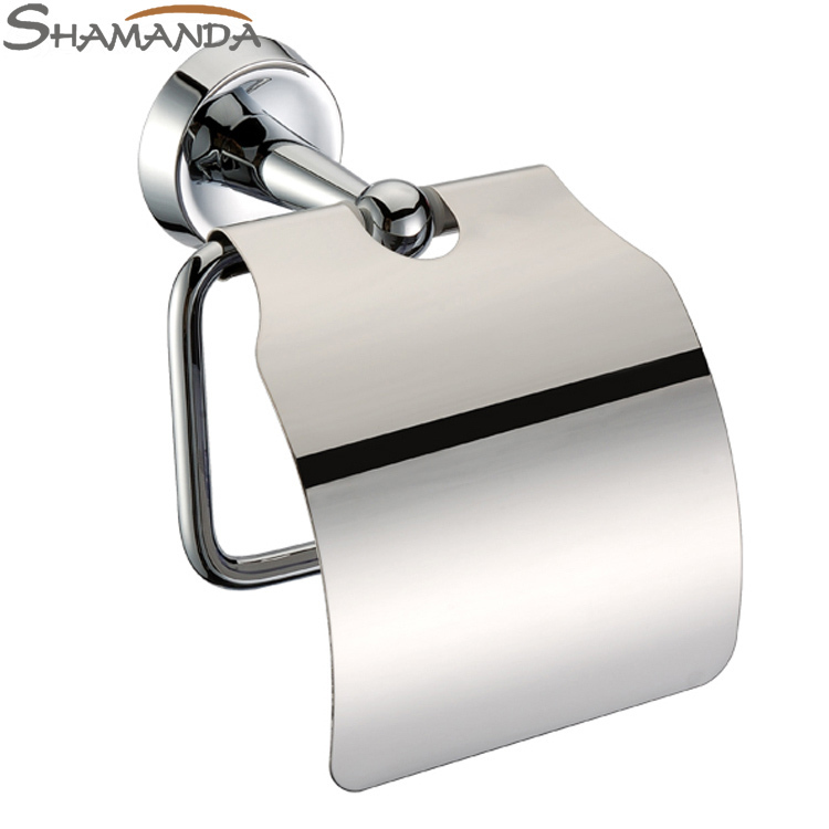 Free shipping bathroom accessories product solid brass for Bathroom accessories toilet roll holder