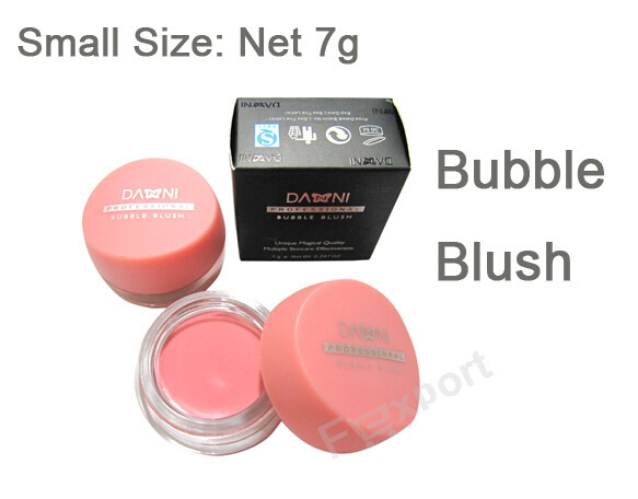 7g Pink Rouge Cream Bubble Blush Make up Blusher for Face(China (Mainland))