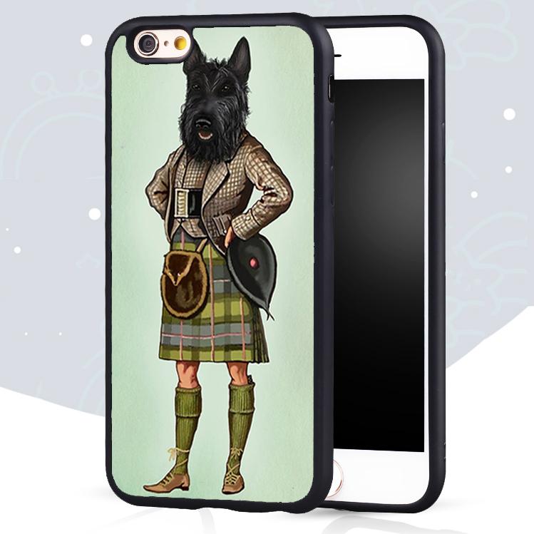 Scottie Dog font b Kilt b font scottish terrier Animal Printed Mobile Phone Case For iPhone