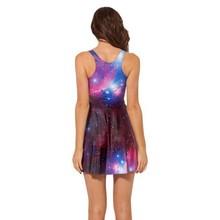 Trendy Women's Galaxy 3D Space Star Dress Sleeveless Dresses 5 Size Sunderss(China (Mainland))