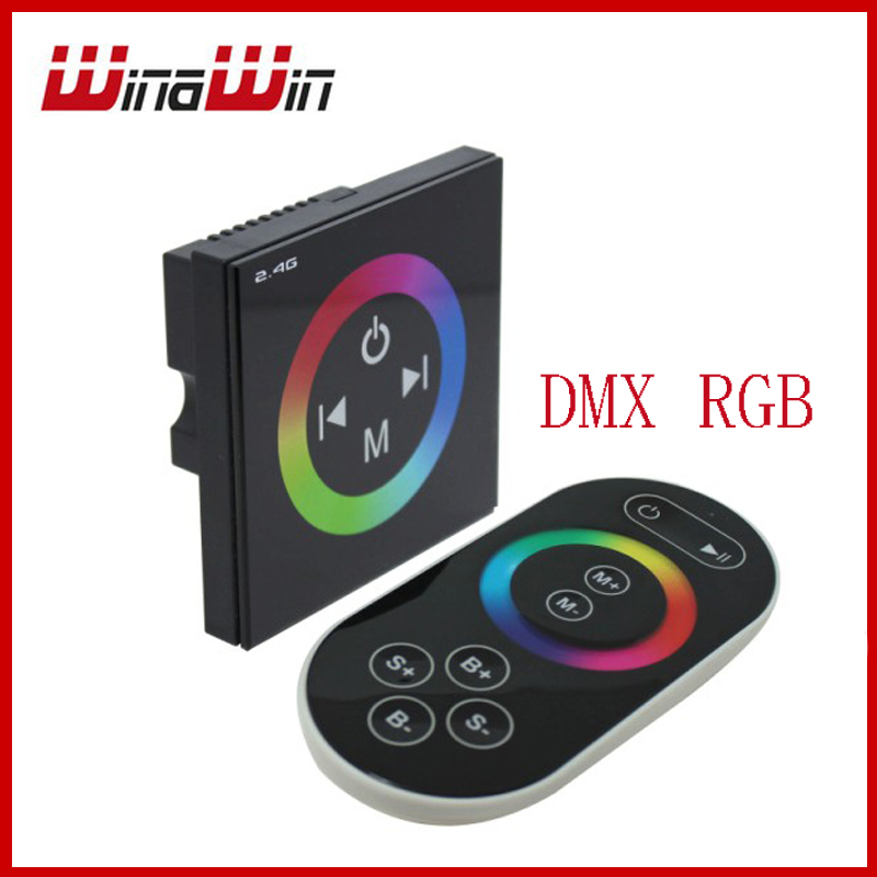 Led DMX RGB Decoder controller 2.4G RF wireless RGB led dimmer, rgb controller touch panel 3ch 4A(China (Mainland))