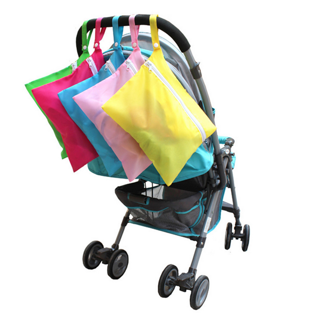 portable waterproof baby stroller nappy storage bag for baby diaper and clothes red green