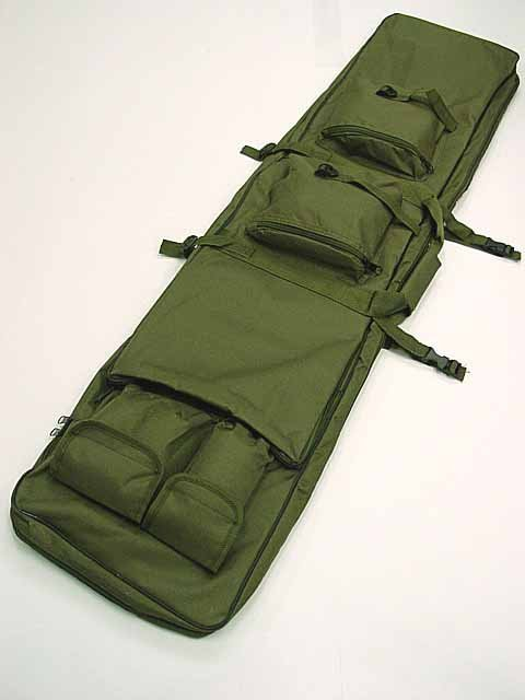 "48"" SWAT Dual Tactical Rifle Carrying Case Gun Bag OD"
