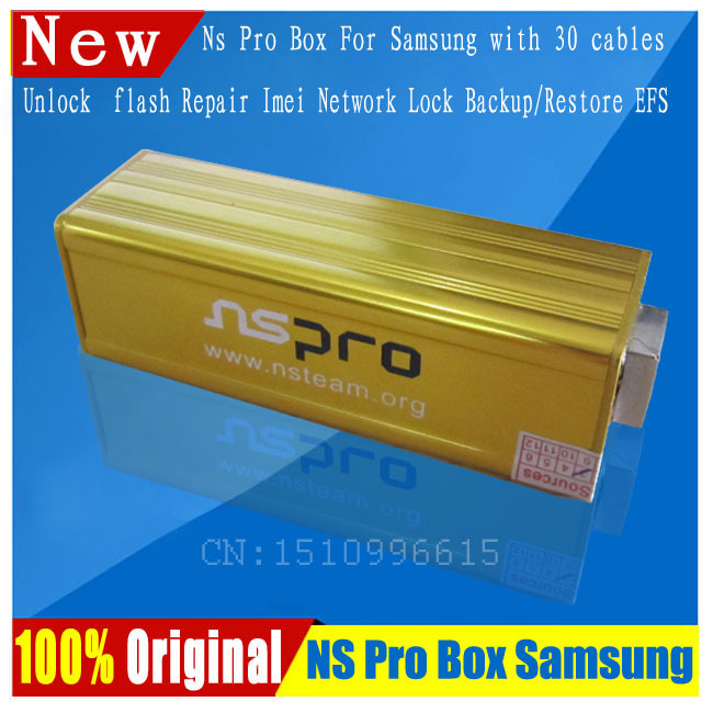 100% Original NS Pro box NSPro box with 30 cables for Samsung cell phones unlock & Repair imei or EFS&Flash&Network Lock(China (Mainland))