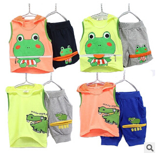 baby children cartoon clothing set girls and boys summer cotton suits T shirts +short pants sets kids fashion clothing YF-305(China (Mainland))