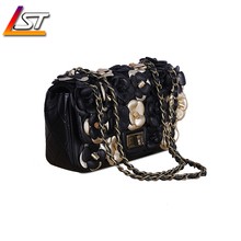 2015 hollow flower leather bag woman small messenger purses and handbags quality Brand shoulder women famous