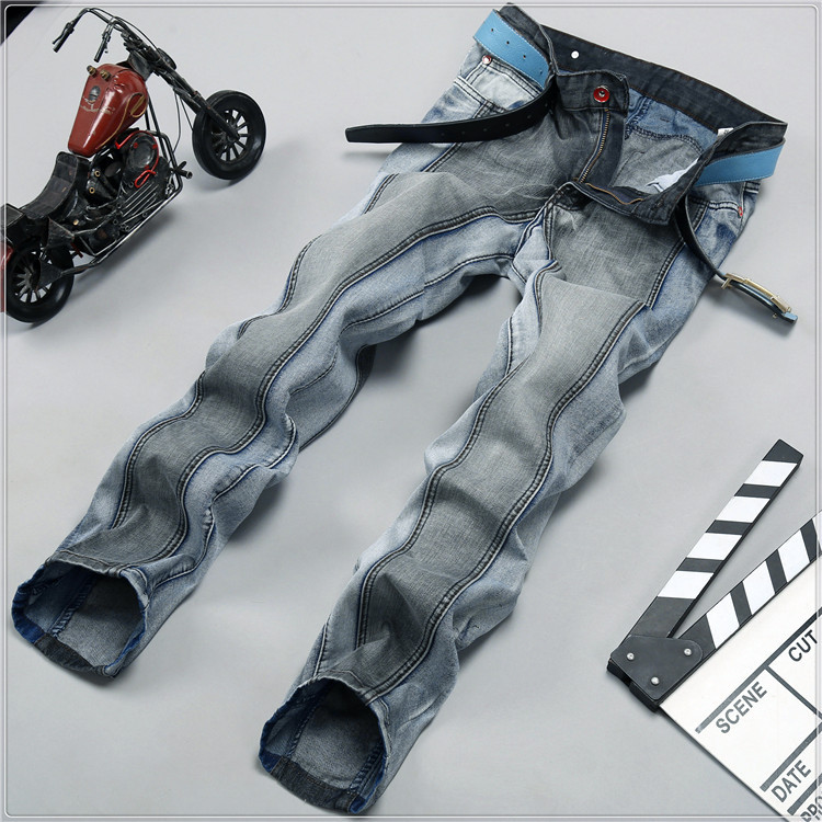 mens jeans Slim Straight jeans male men pants famous designer 100 original slim fit 1018(China (Mainland))
