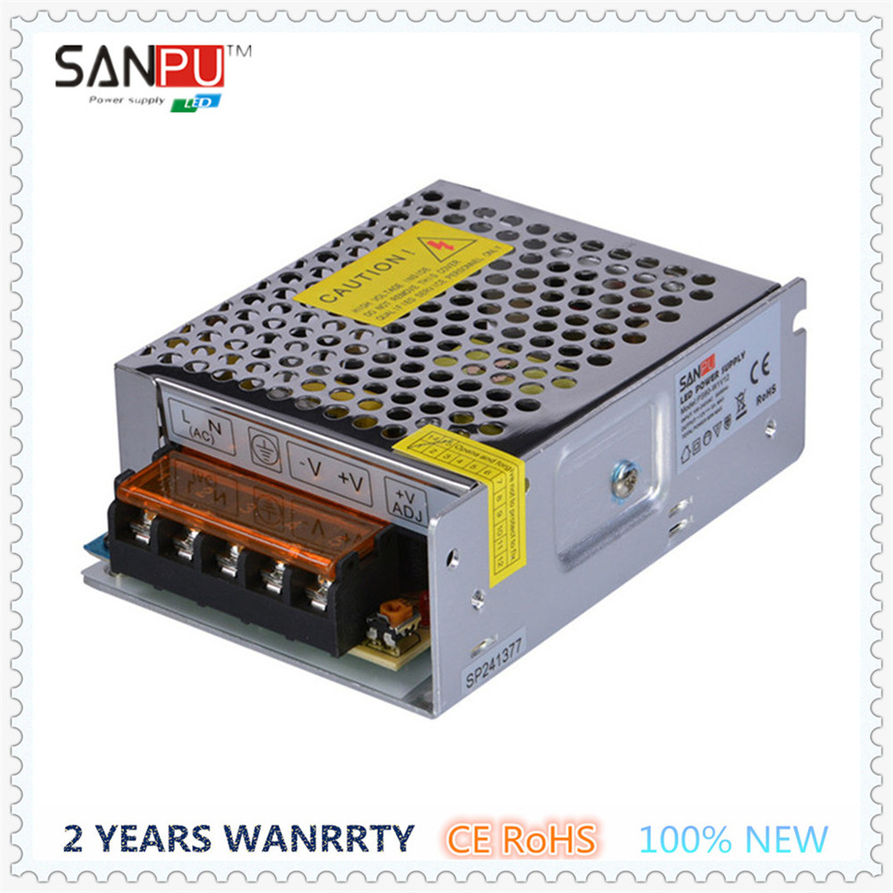 SANPU SMPS 110V 220V AC to DC 12V LED Switching Power Supply Driver Transformer 60W 5A Single Output IP20 Metal Shell for LEDs(China (Mainland))