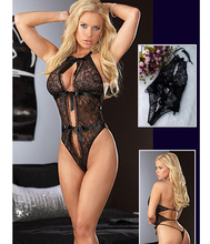 SY009 hot sale sexy lingerie black bow lace teddy lingerie sex products Open bra babydoll sexy underwear women