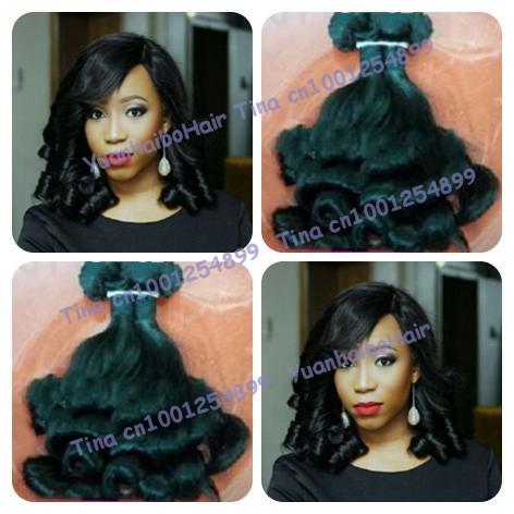 Fumi Hair! 6A top Grade 3pcs/lot #1b tip bouncy weaves virgin malaysian aunty funmi hair weaves free shipping<br><br>Aliexpress