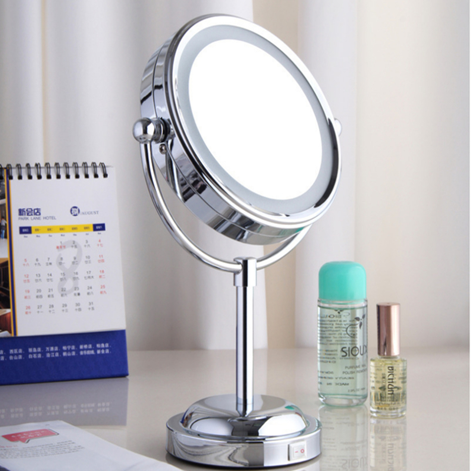 Compra de pie espejo de maquillaje iluminado online al por - Espejos de tocador con luz ...