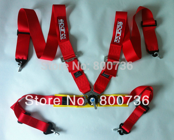 2013 New type FIA 2018 Homologation 3 inches/4Point SPA*RC* Racing Seat Belt RACING HARNESS(Red,blue,black availabel)(China (Mainland))