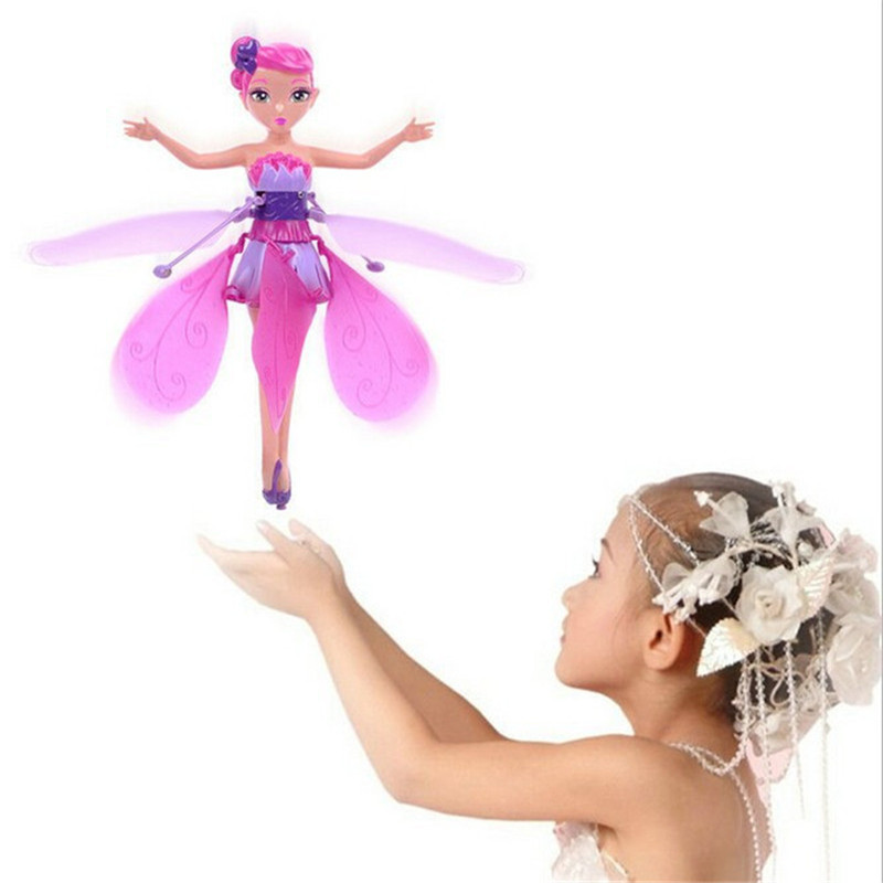 2016 Funny Creative Kids Toys! Remote Control RC Helicopter Flying With Elsa Kids Educational Toy Doll(China (Mainland))