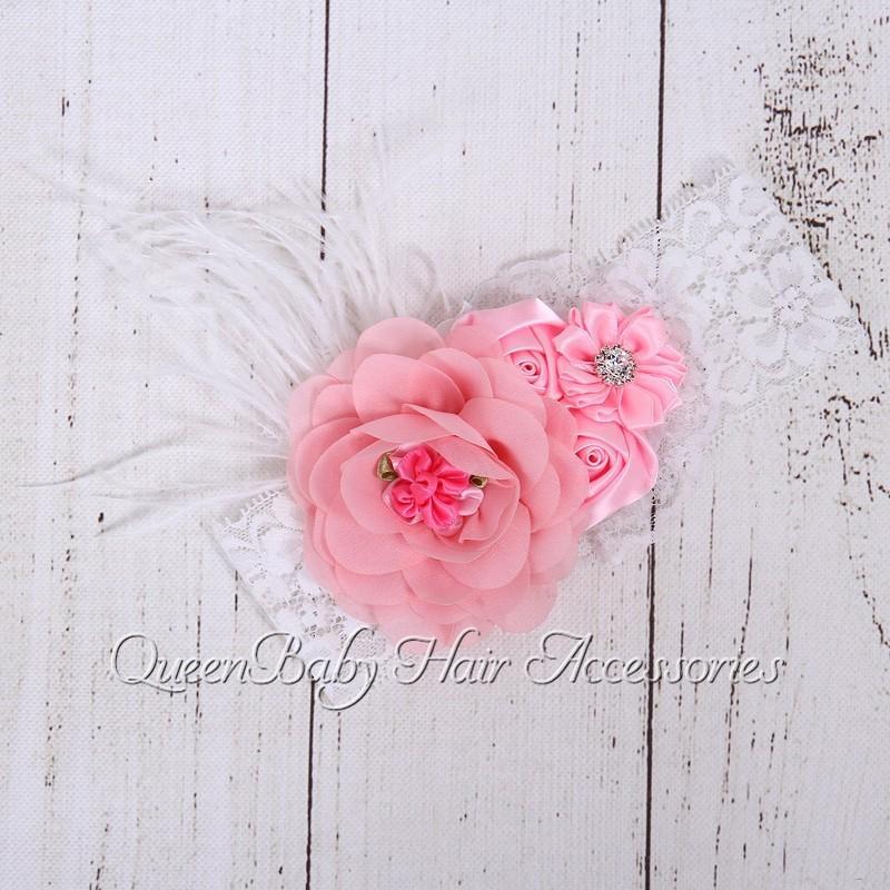 Детские повязка на голову подбора цветок атласная на повязка на голову девочка повязка на голову