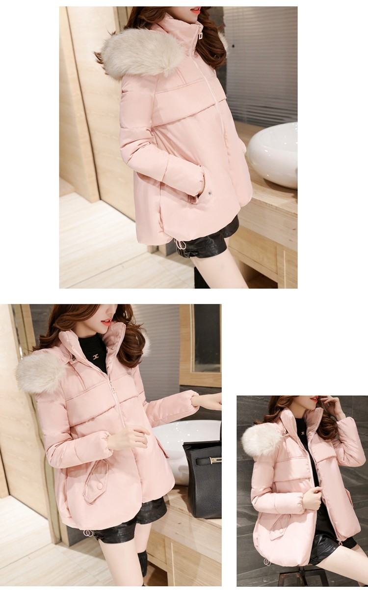 Latest Winter Fashion Women Down jacket  Hooded Thickening Super warm Long sleeve Coat Pure color Loose Big yards Coat NZ137