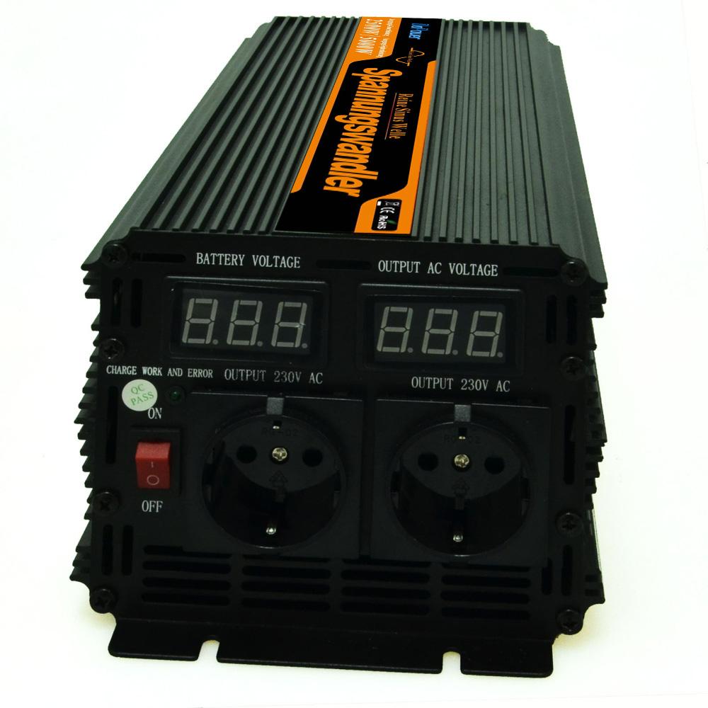 Off grid power inverter 24v to 220v 230v 2500w (peak 5000w) pure sine wave , LED digital display(China (Mainland))