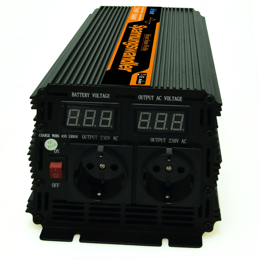Off grid power inverter 24v to 220v 230v 2500w (peak 5000w) pure sine wave , LED digital display(China (Mainland))