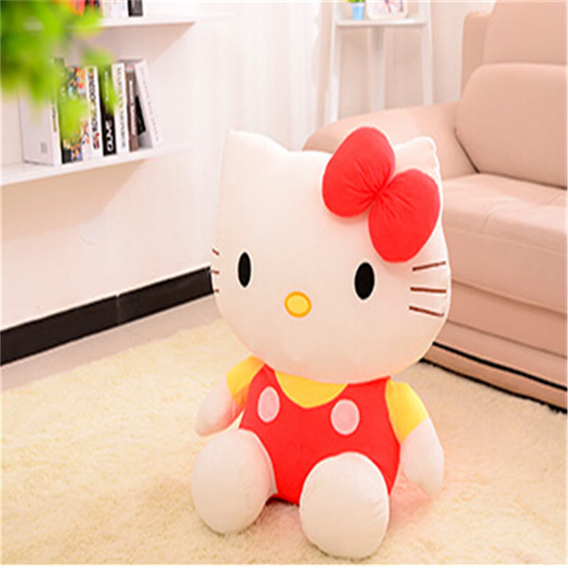 High Quality 20cm Hello Kitty Plush Stuffed Dolls for children Lovely Baby Toys Hello Kitty Plush Best Gift for Children(China (Mainland))